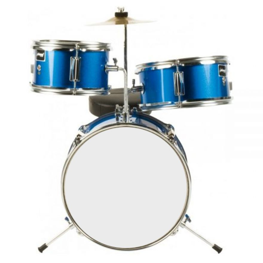 Batteria Acustica Junior blue