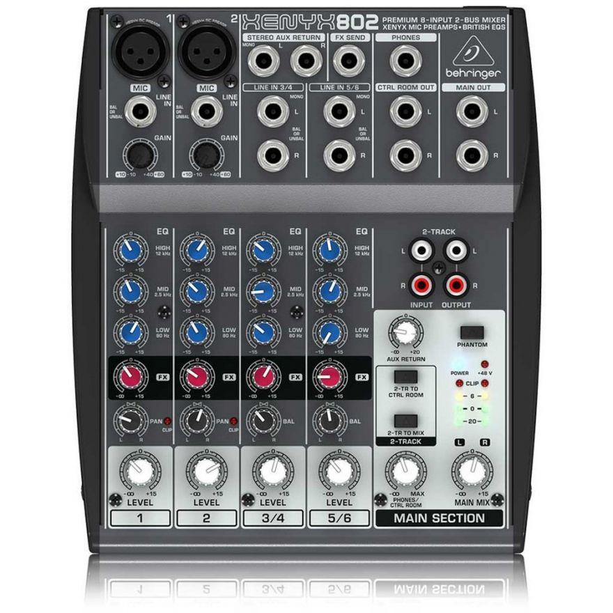 BEHRINGER Xenyx 802 Mixer Passivo 8 ingressi