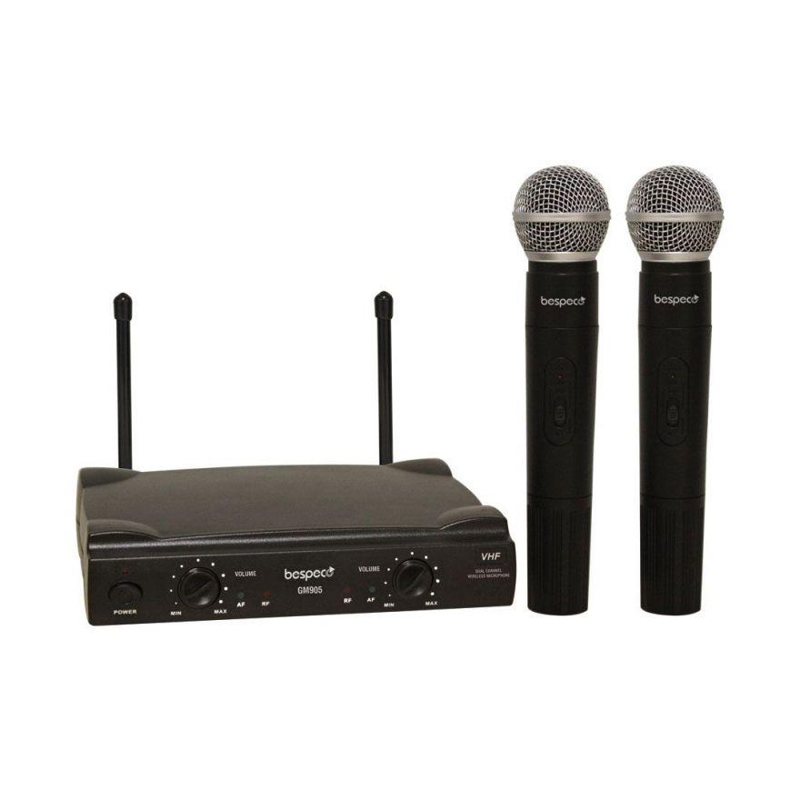 Bespeco GM905 - Radiomicrofono Doppio Palmare VHF B-Stock
