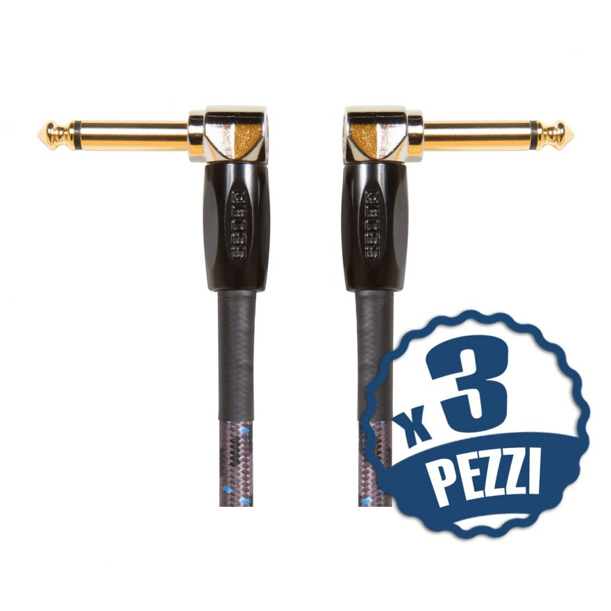 BOSS Cavo Patch Professionale Jack Angolato / Jack Angolato 15cm (3PZ)