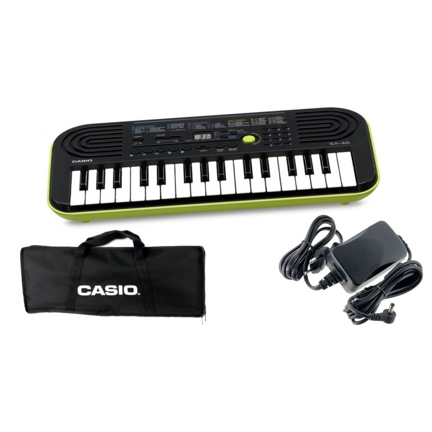 CASIO SA46 Tastiera 32 Tasti Mini / Custodia / Alimentatore Bundle
