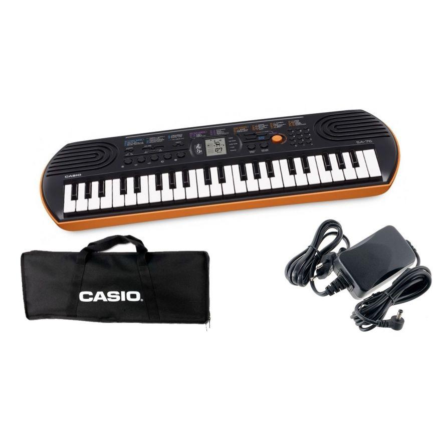 CASIO SA76 Tastiera 44 Tasti Mini / Minibag / Alimentatore Bundle