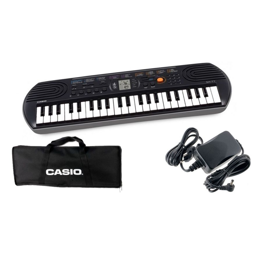 CASIO SA77 Tastiera 44 Tasti Mini / Minibag / Alimentatore Bundle