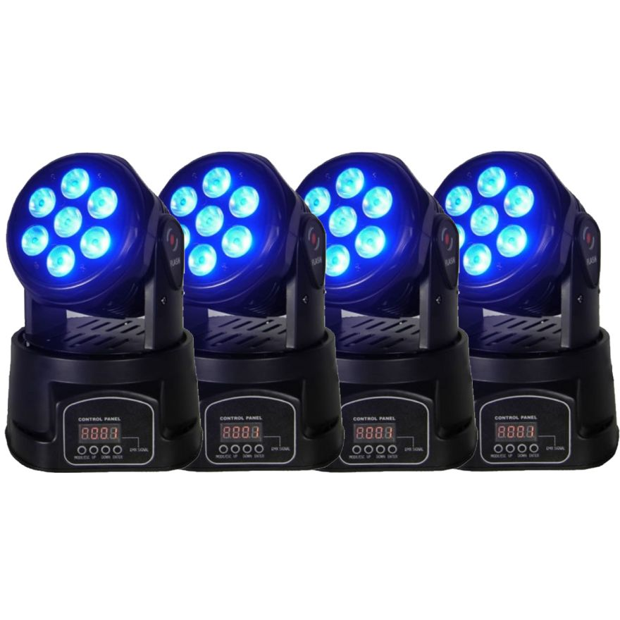 FLASH LED MOVING HEAD 7X10W Set bundle