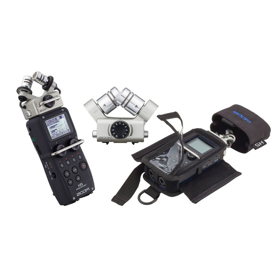 Bundle ZOOM H5 Registratore Digitale / XYH-6 Capsula Microfonica / PCH-5 Custodia