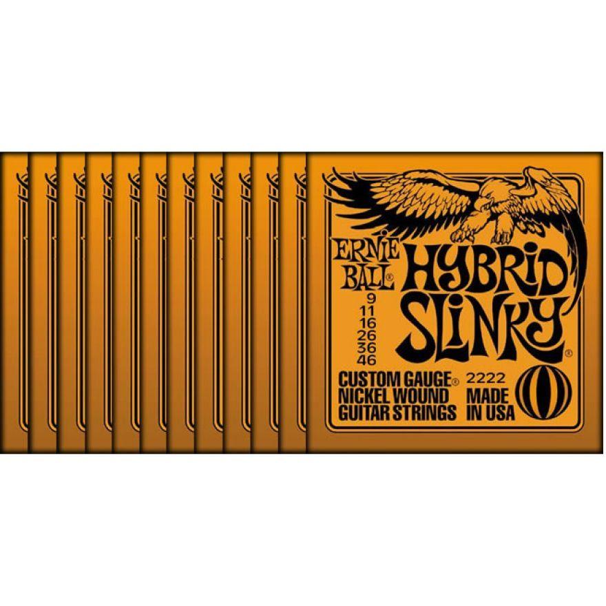 Ernie Ball Set 12 Mute Hybrid Slinky