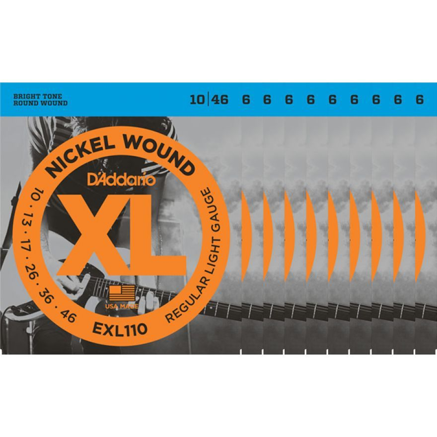 D'Addario EXL110 Set 10 Corde Regular Light