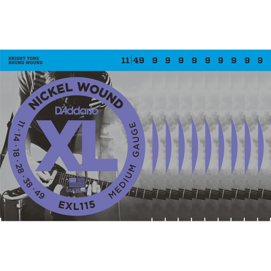 D'Addario EXL115 Set 10 Corde Medium