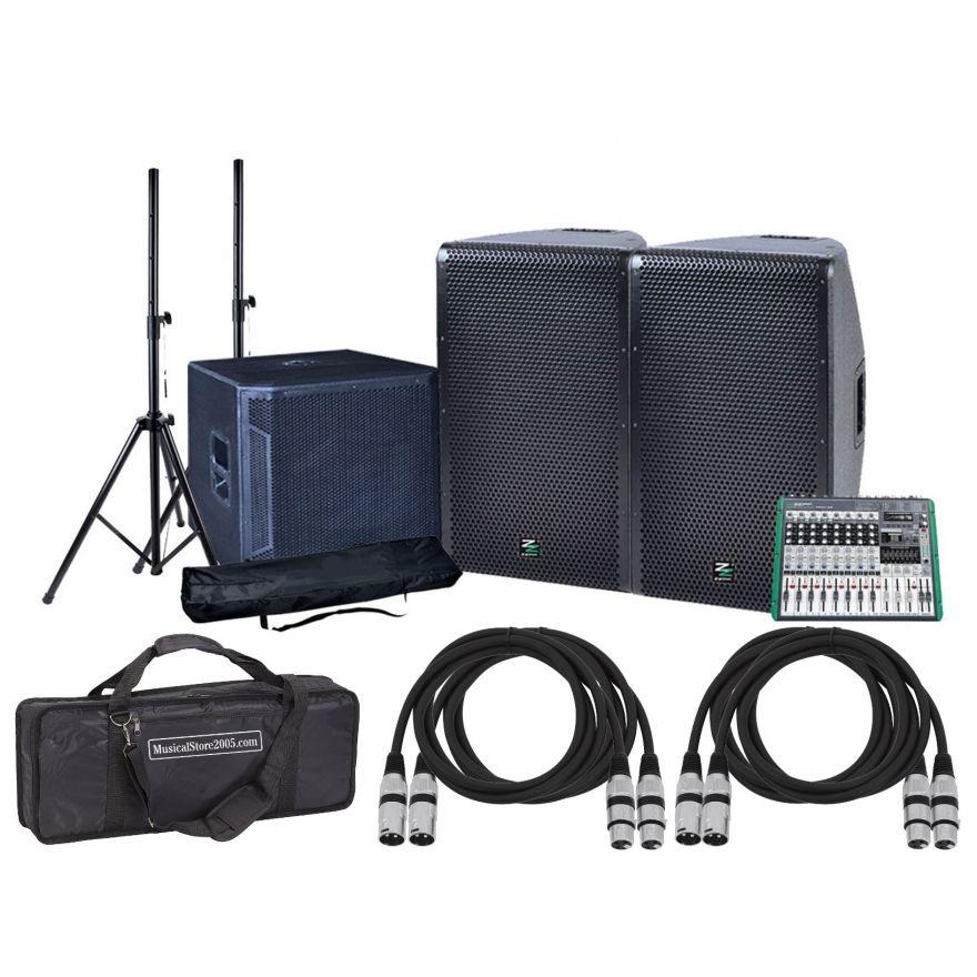 ZZIPP Impianto Audio DJ Impianto Completo 3000W Karaoke con Cavi/Borsa