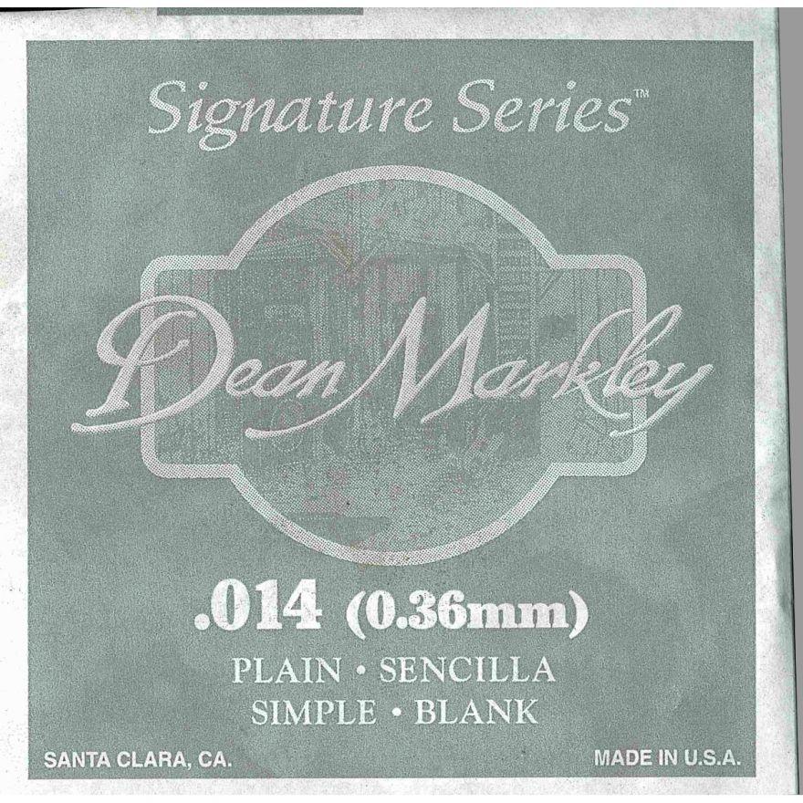 0 DEAN MARKLEY - Corda singola per Chitarra Elettrica Plain Steel, .014
