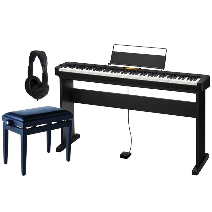Casio CDP S350 Set - Pianoforte Digitale con Stand Panchetta e Cuffie
