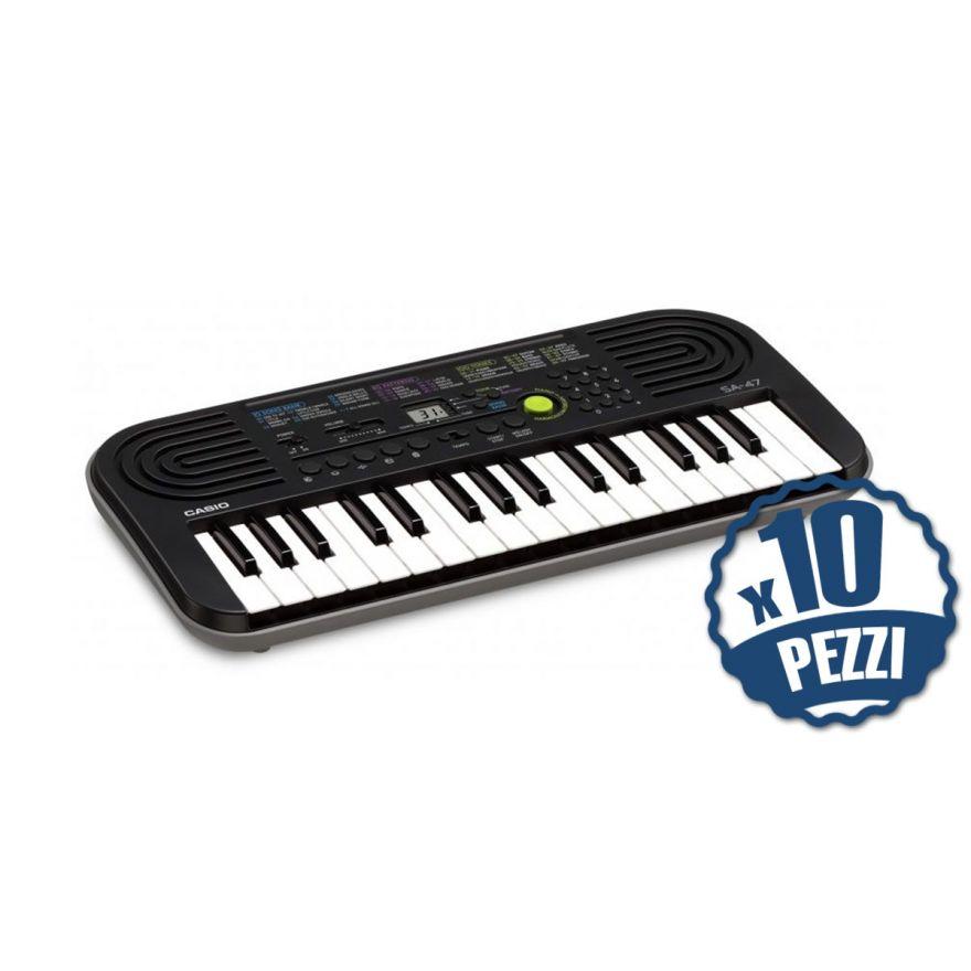 CASIO SA47 Tastiera 32 Tasti Mini Bundle Speciale Scuola