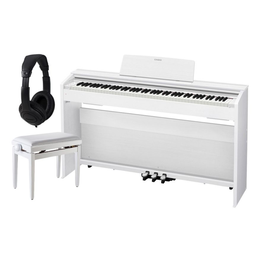 Casio Privia PX-870 White Home Set - Pianoforte Digitale / Panchetta / Cuffie