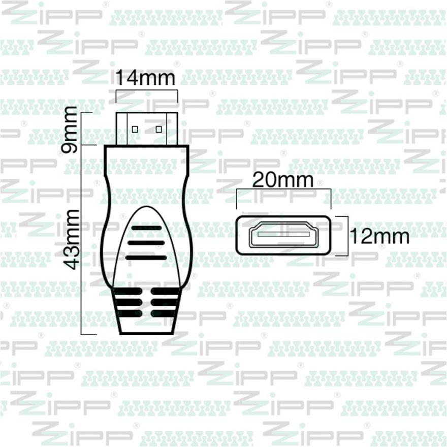 ZZIPP Cavo HDMI 2.0 Ultra HD Connect Maschio/Maschio 20mt