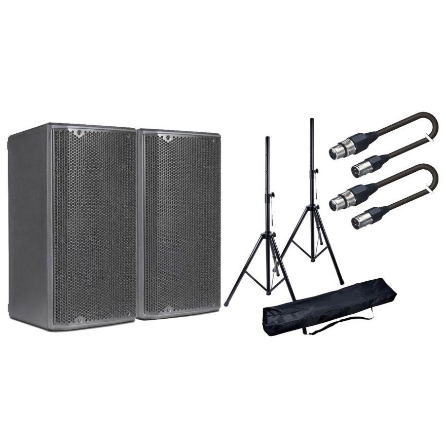 DB TECHNOLOGIES Coppia OPERA 12 Speaker Attivo 1200W / Stativi / Cavi XLR 10mt