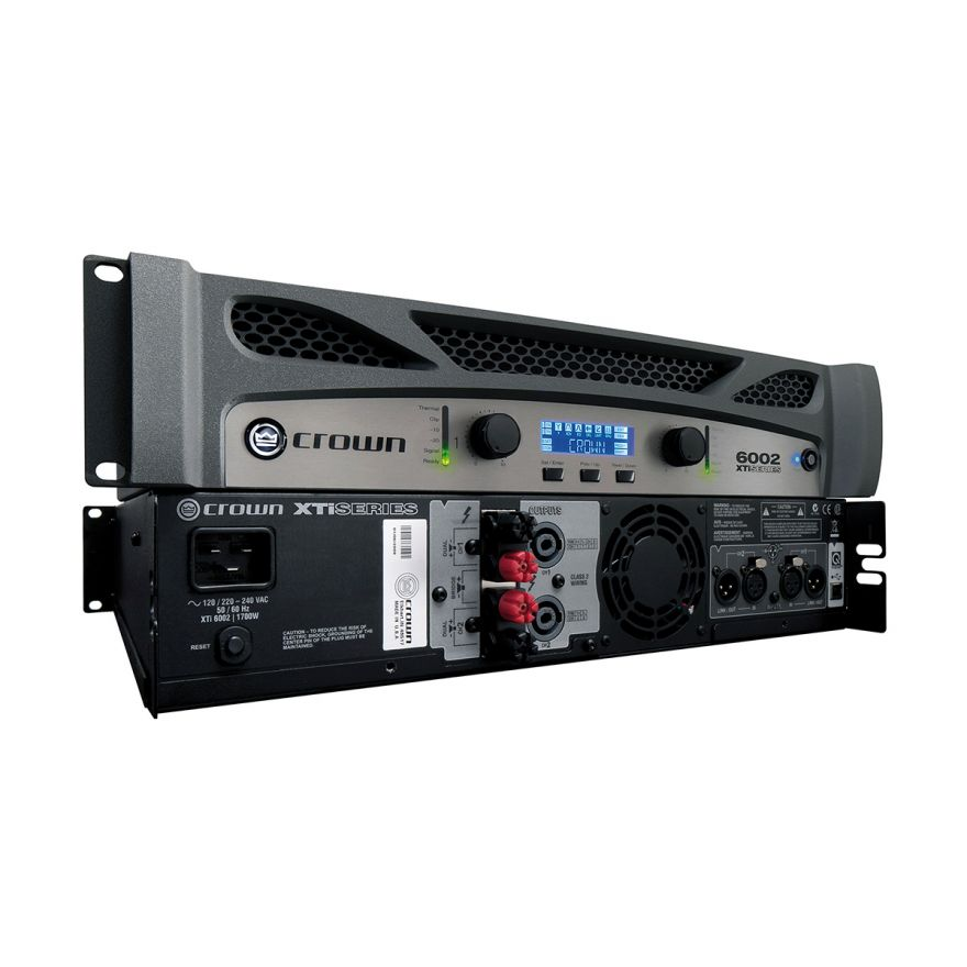 CROWN XTI6002 - Amplificatore PA/Touring 2 x 2100 W/ 4 Ohm DSP Integrato Programmabile