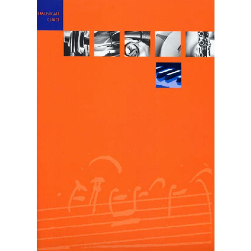 curci quaderno arancio blu