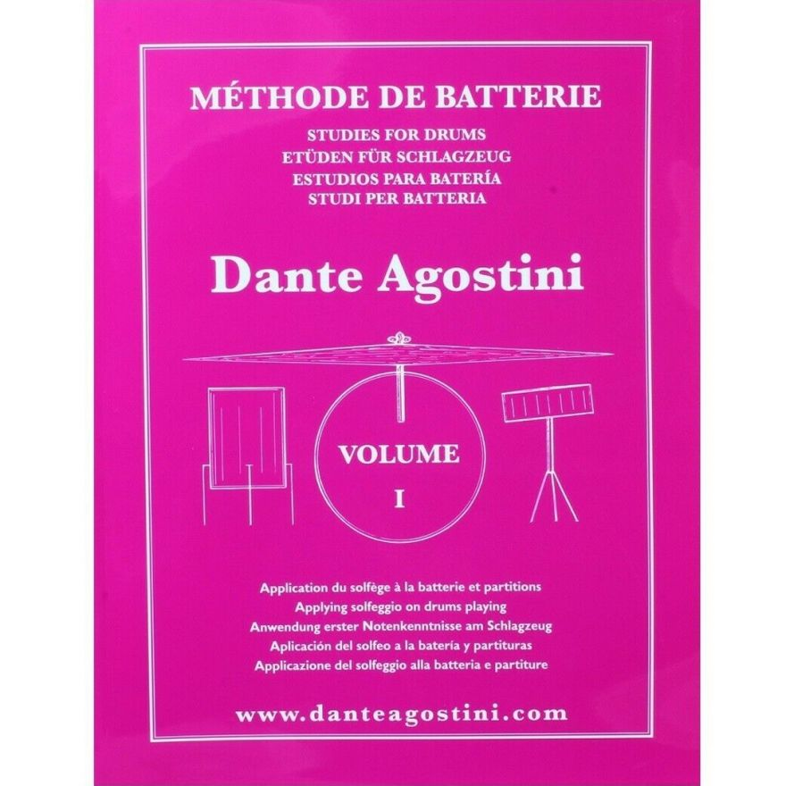 1 Dante Agostini Metodo per Batteria Volume 1