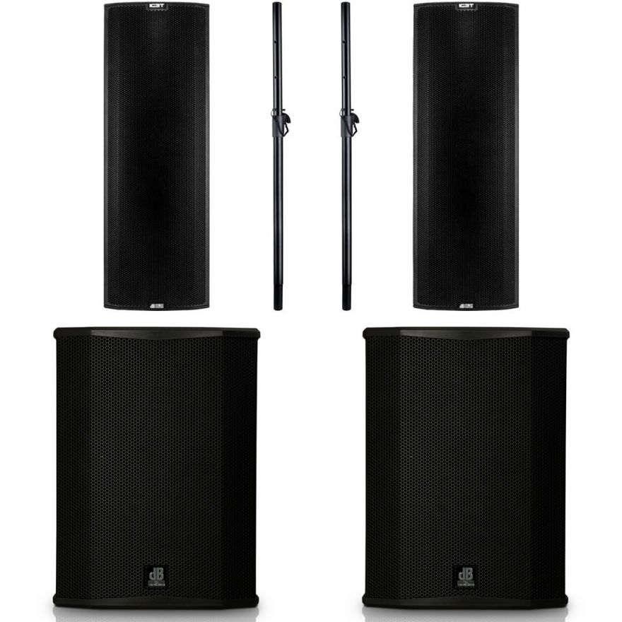dB Technologies Impianto Audio Attivo Sub-Satellite Ingenia IG3T 7600W