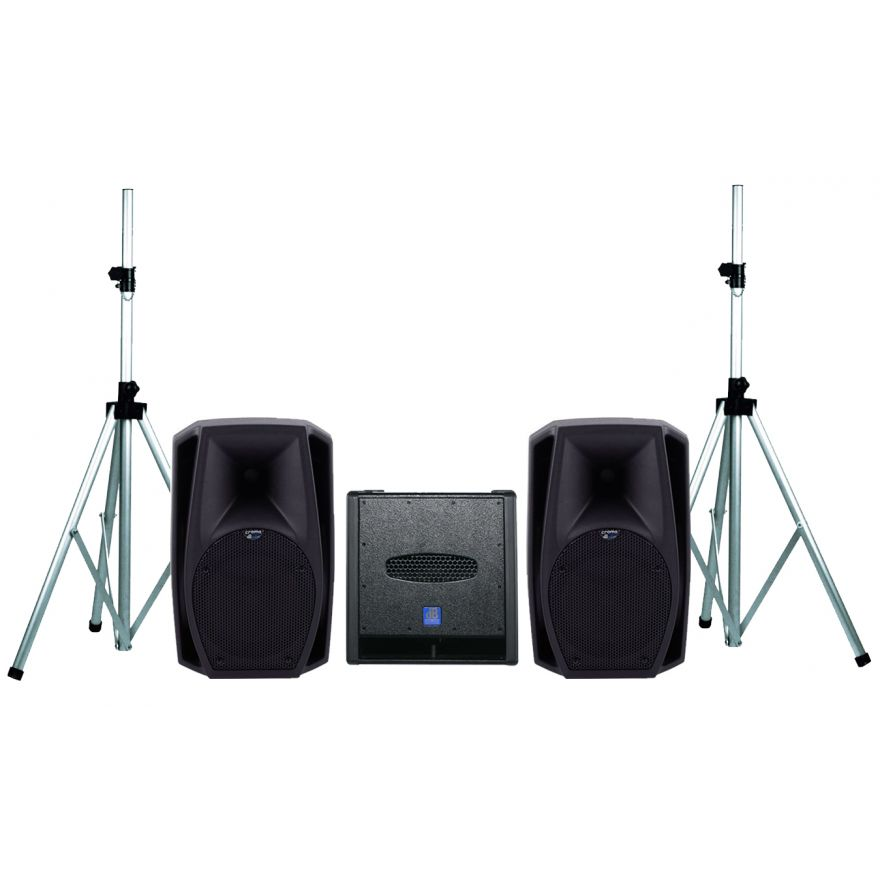 DB TECHNOLOGIES Sistema Audio Coppia CROMO 10+ / Subwoofer / Stativi Bundle
