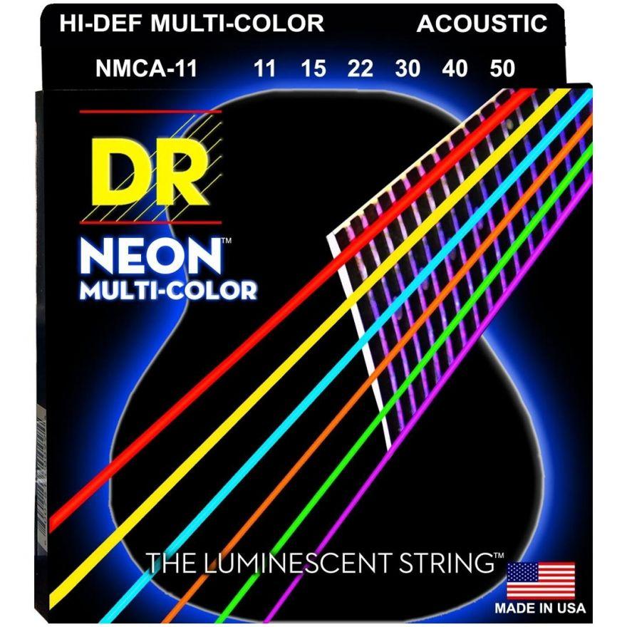Dr MCA-11 MULTI-COLOR Corde / set di corde per chitarra acustica