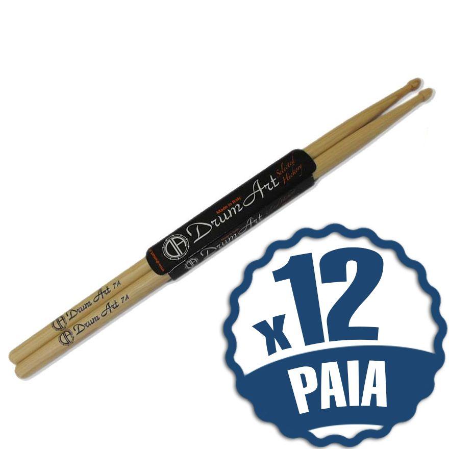 DRUM ART 7A 12 Bacchette per Batteria Acustica
