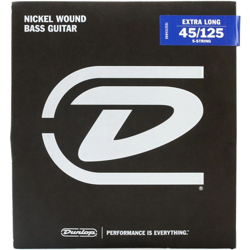 Dunlop DBN45125XL - Set di Corde per Basso Elettrico Scala Extra Lunga 45/125
