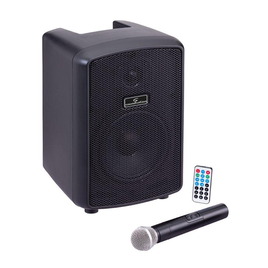 "0 SOUNDSATION HYPER PLAY 6AMW - Sistema PA Portatile 6.5"" Con Radiomicrofono UHF, MP3/Bluetooth E Batteria Ricaricabile"