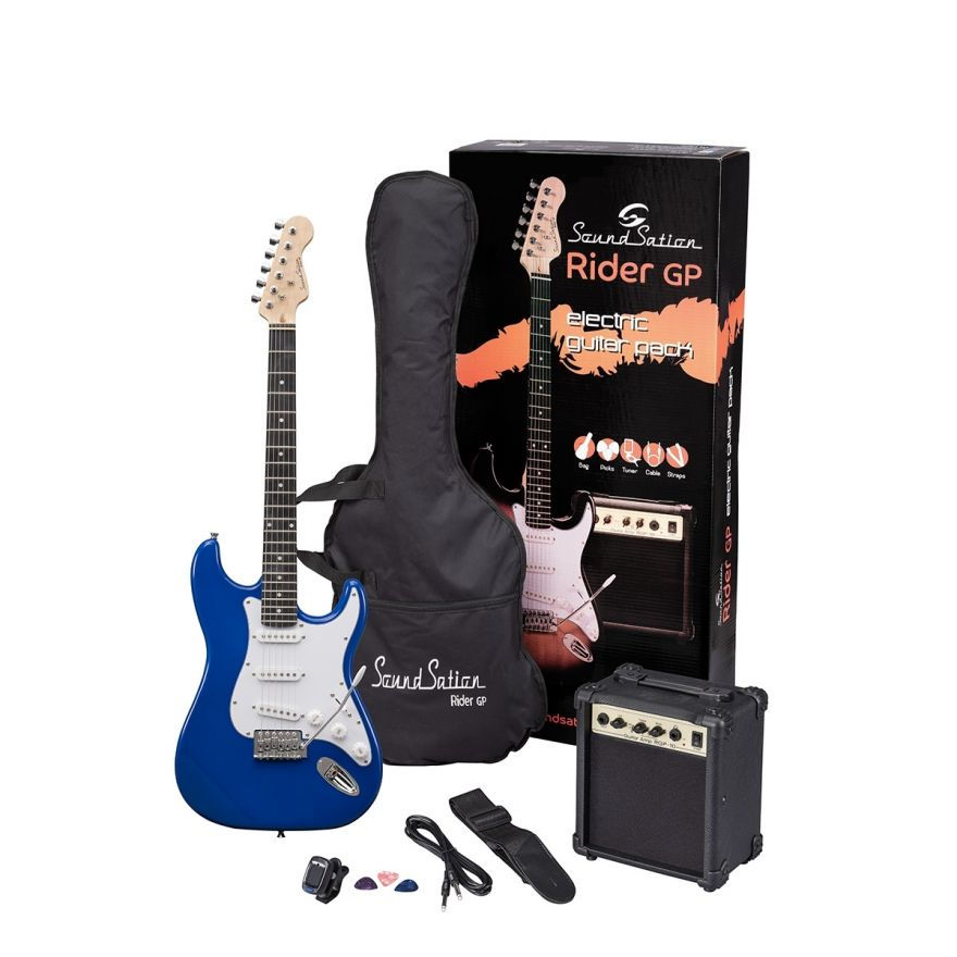 0 SOUNDSATION RIDER GP TB - Guitar Pack Elettrico - Tropical Blue