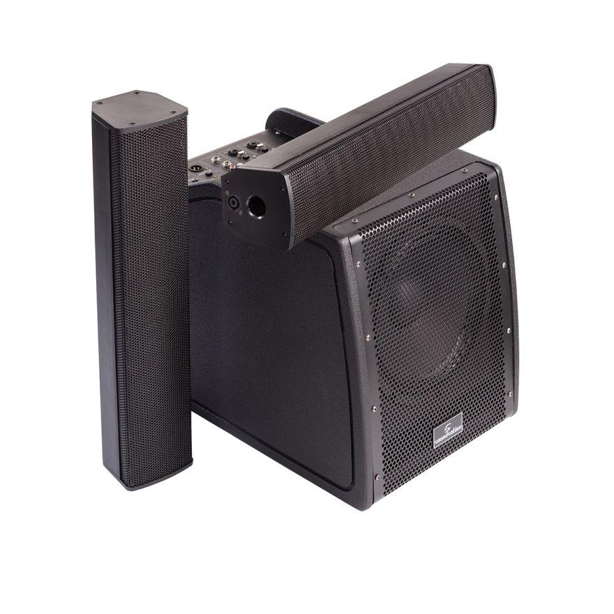 0 SOUNDSATION LIVEMAKER X SET - Sistema PA Da 1800W Di Picco Portatile A Colonna 2.1 Con DSP