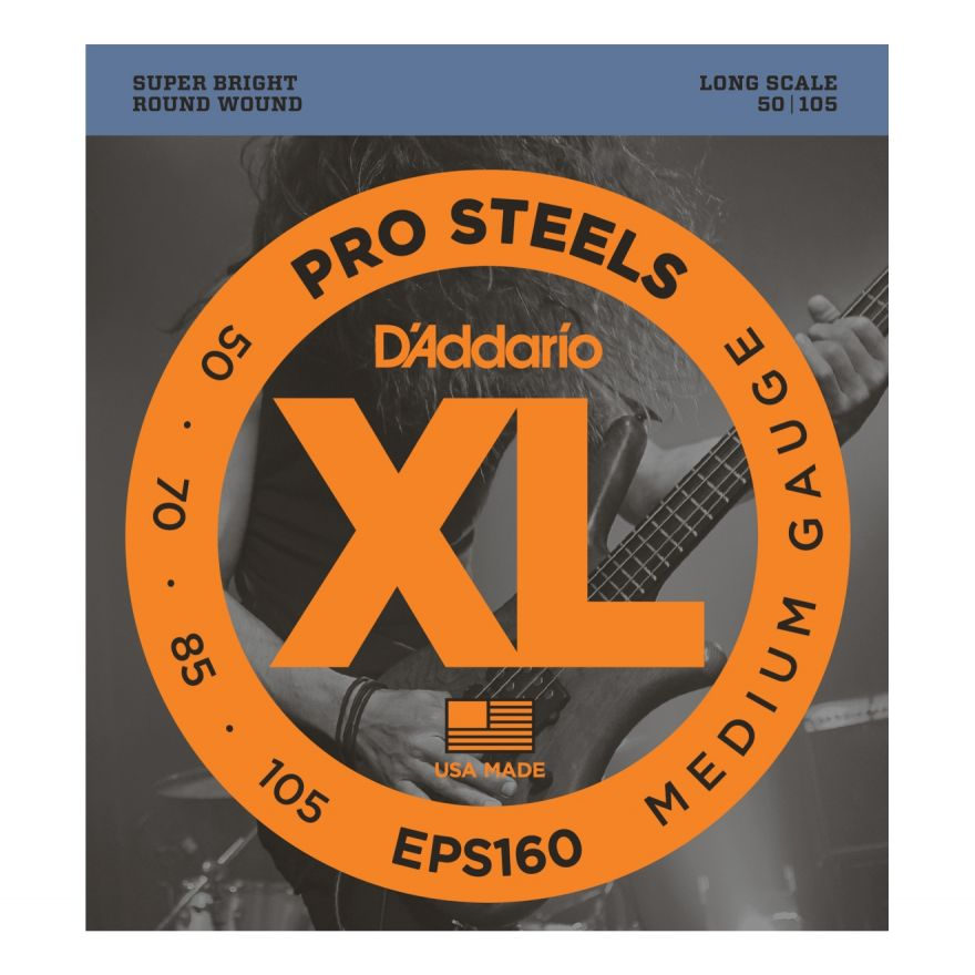 D'ADDARIO EPS160 - Muta per Basso Elettrico Pro Steels Medium (050/105)