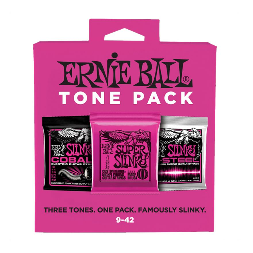 ERNIE BALL ELECTRIC TONE PACK - Set di 3 Mute per Elettrica Super Slinky 09/42