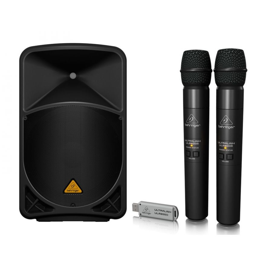 BEHRINGER Kit Karaoke Doppio EUROLIVE B112 MP3 / Doppio Palmare Wireless