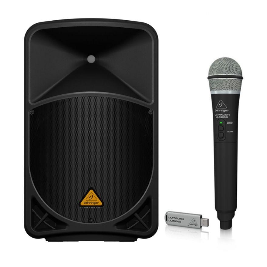 BEHRINGER Kit Karaoke EUROLIVE B112 MP3 Cassa Attiva 1000W / Palmare Wireless