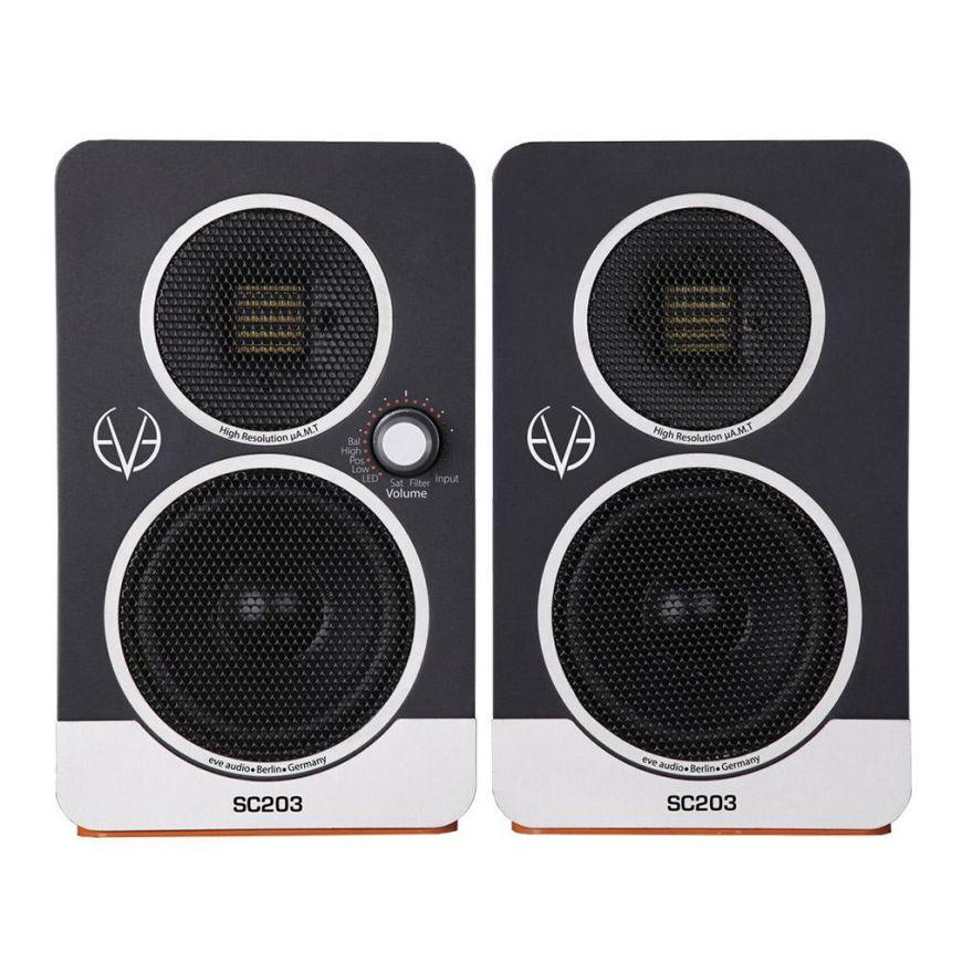 EVE AUDIO SC203 - Coppia Desktop Monitor Professionali 120W