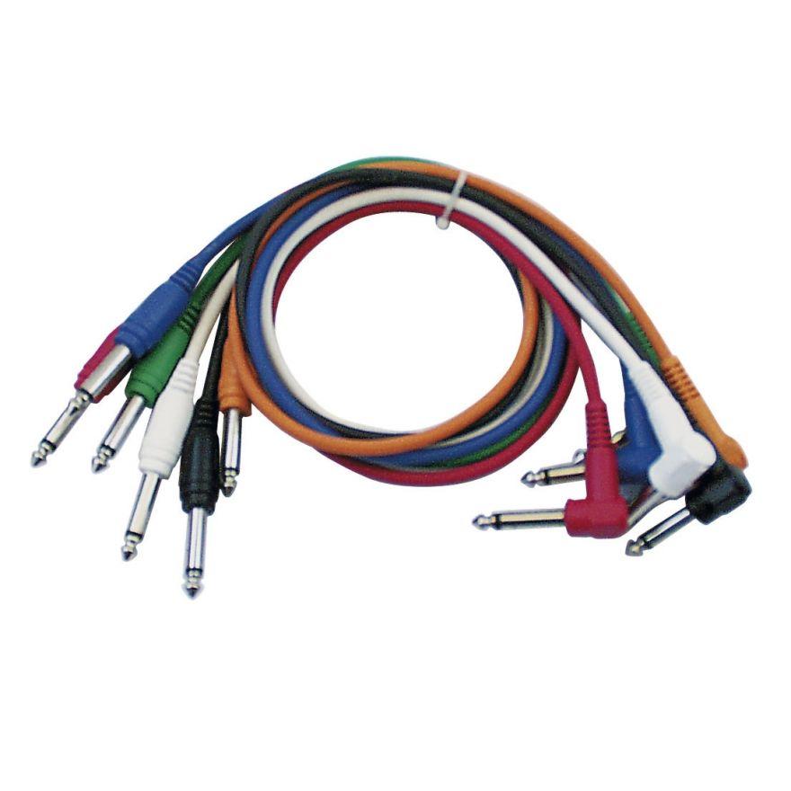 DAP-Audio - FL14 - 6 coloured unbal. patch straight > 90° - 30 cm