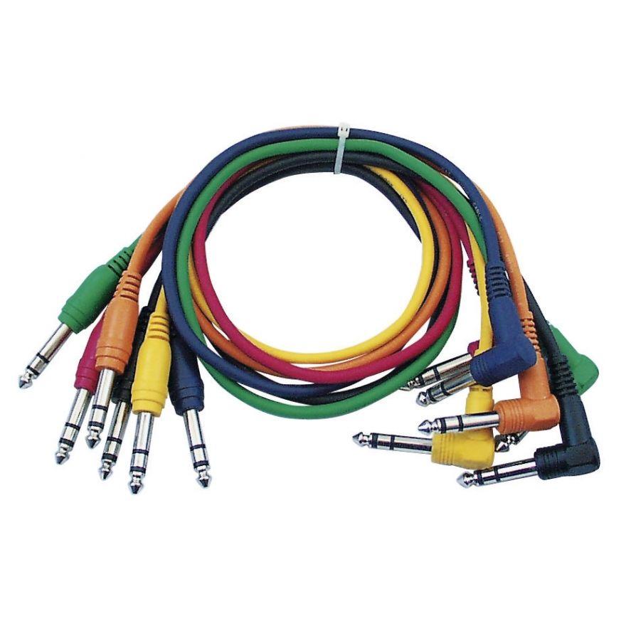 DAP-Audio - FL15 - 6 coloured bal. patch straight > 90° - 90 cm