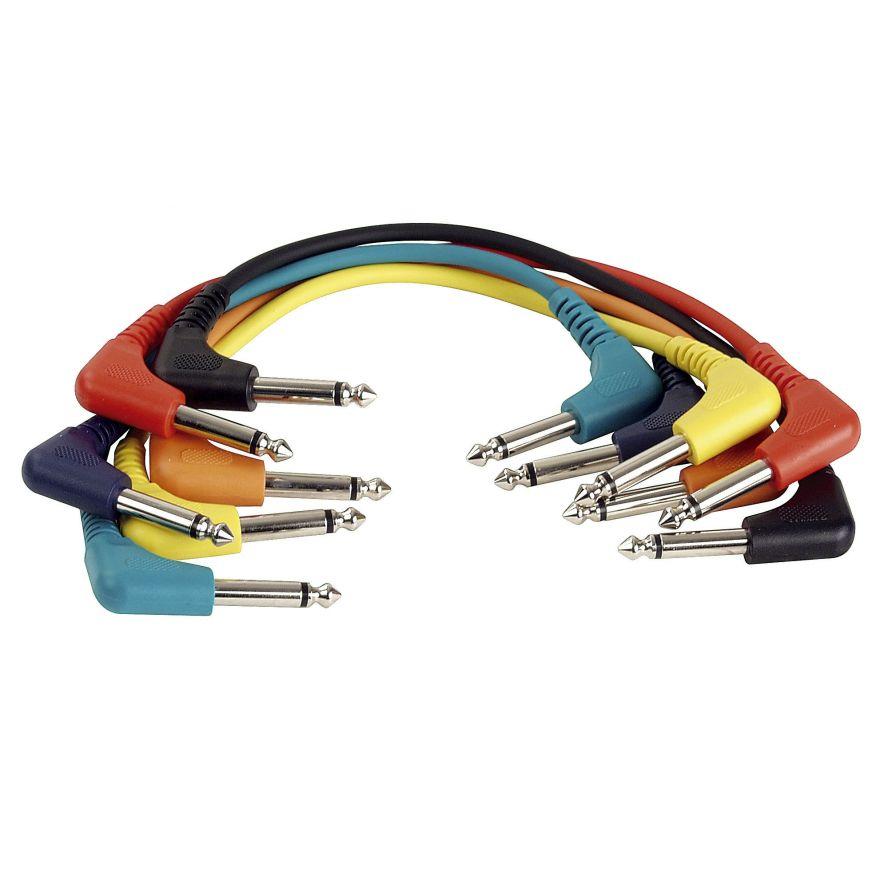 DAP-Audio - FL41 - 6 coloured unbal. patch 90° > 90° - 30 cm