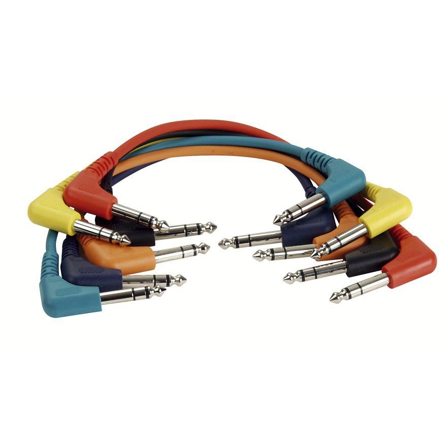 DAP-Audio - FL42 - 6 coloured bal. patch 90° > 90° - 30 cm