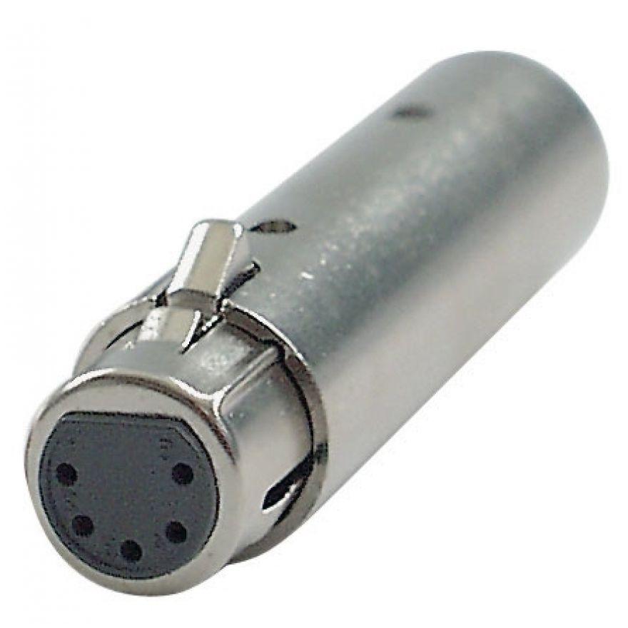 DAP-Audio - FLA30 - 3p. - 5p. XLR Adapter - 3p. XLR, maschio > 5p. XLR, femmina adattatore DMX