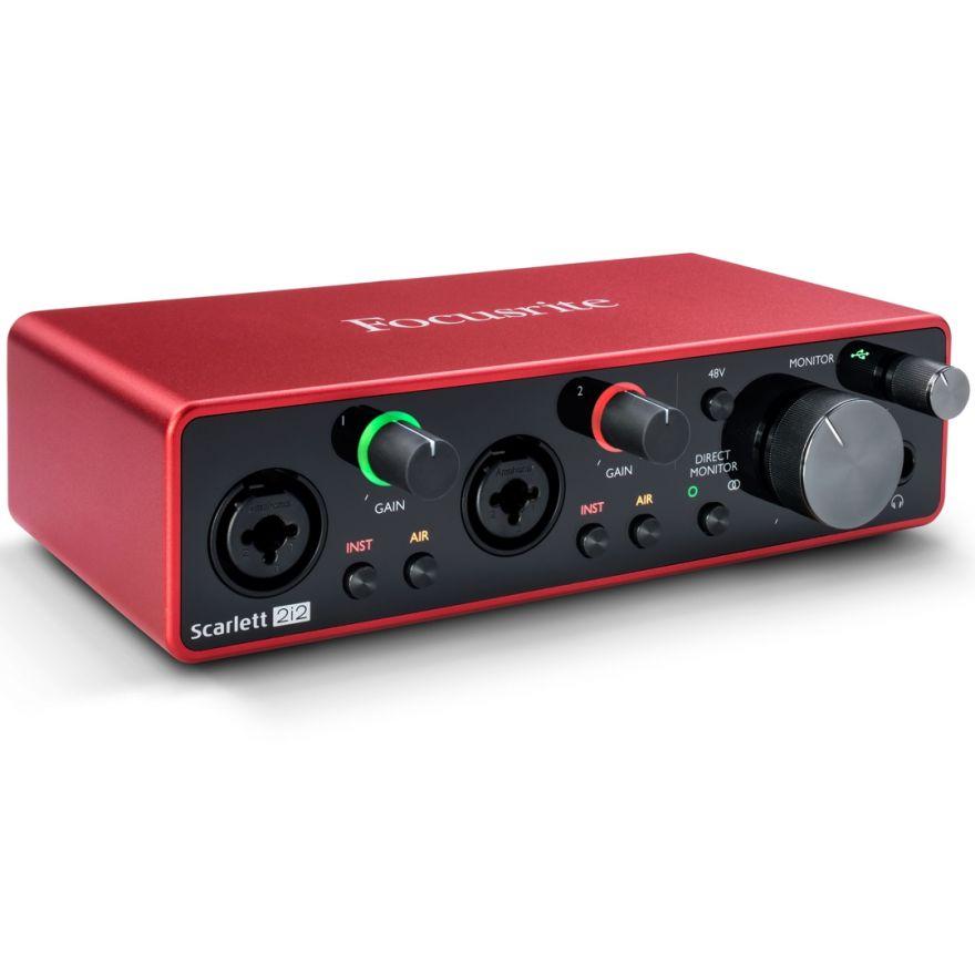 Focusrite Scarlett 2i2 3rd Gen - Scheda Audio USB 2in/2out