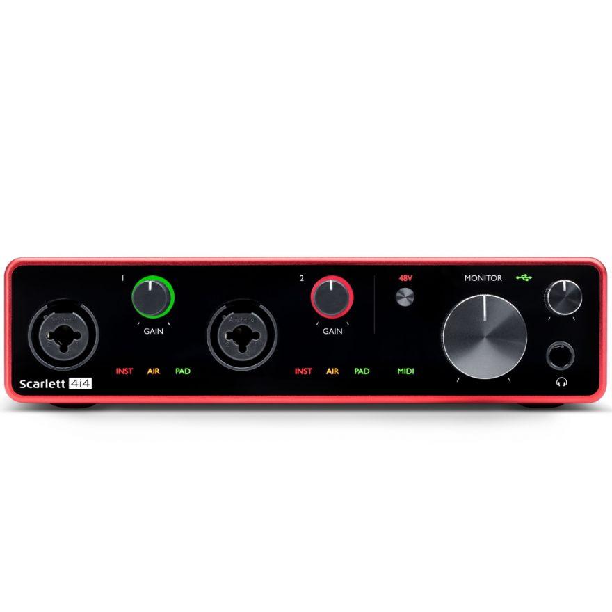 Focusrite Scarlett 4i4 3rd Gen - Interfaccia Audio MIDI/USB 4in/4out