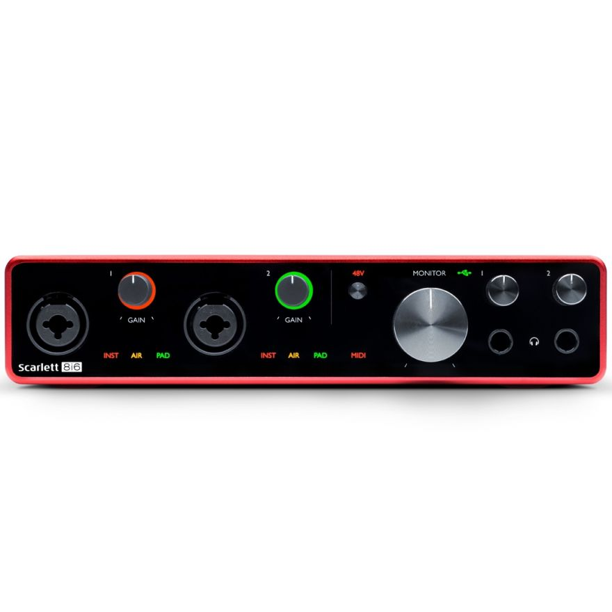 Focusrite Scarlett 8i6 3rd Gen - Interfaccia Audio MIDI/USB 8in/6out