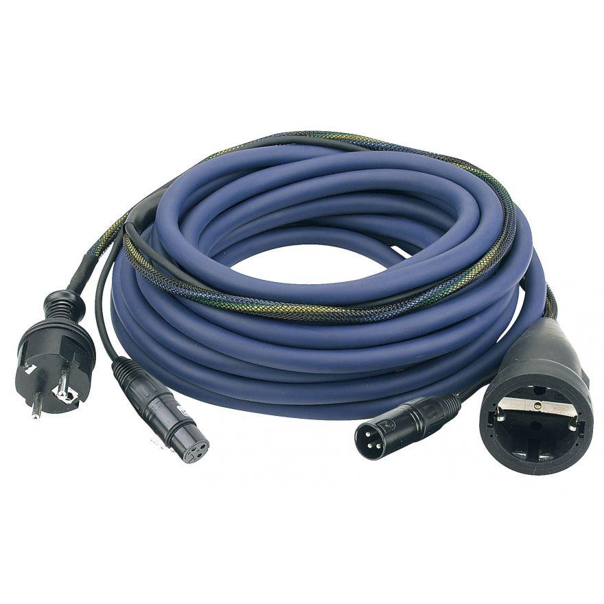 DAP-Audio - FP09 - Schuko/XLR F - Schuko/XLR M - Cavo di alimentazione/segnale AUDIO da 10 m