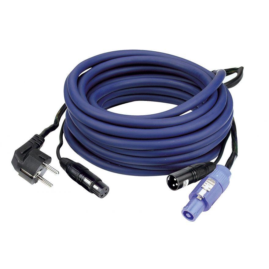 DAP-Audio - FP10 - Schuko/XLR F - Powercon/XLR M - Cavo di alimentazione/segnale AUDIO da 10 m