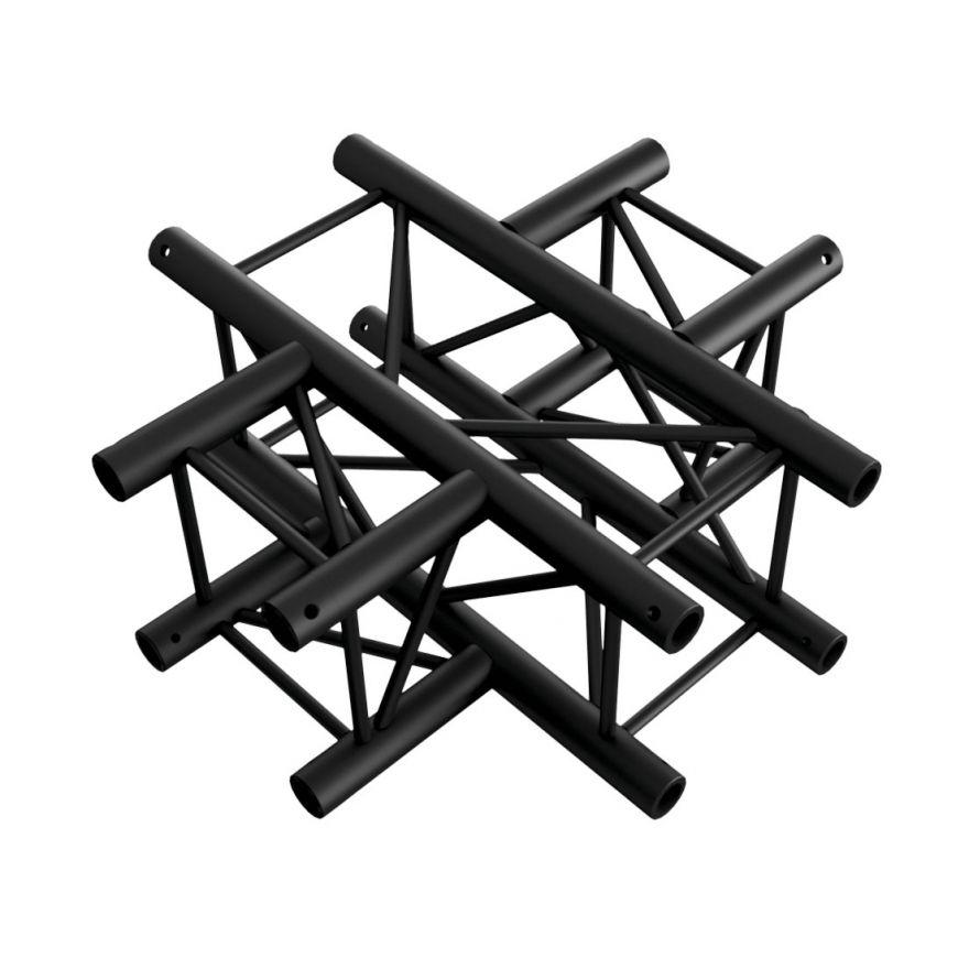 Showtec - Cross 4-way - NERO, traliccio Pro-30 quadrato F