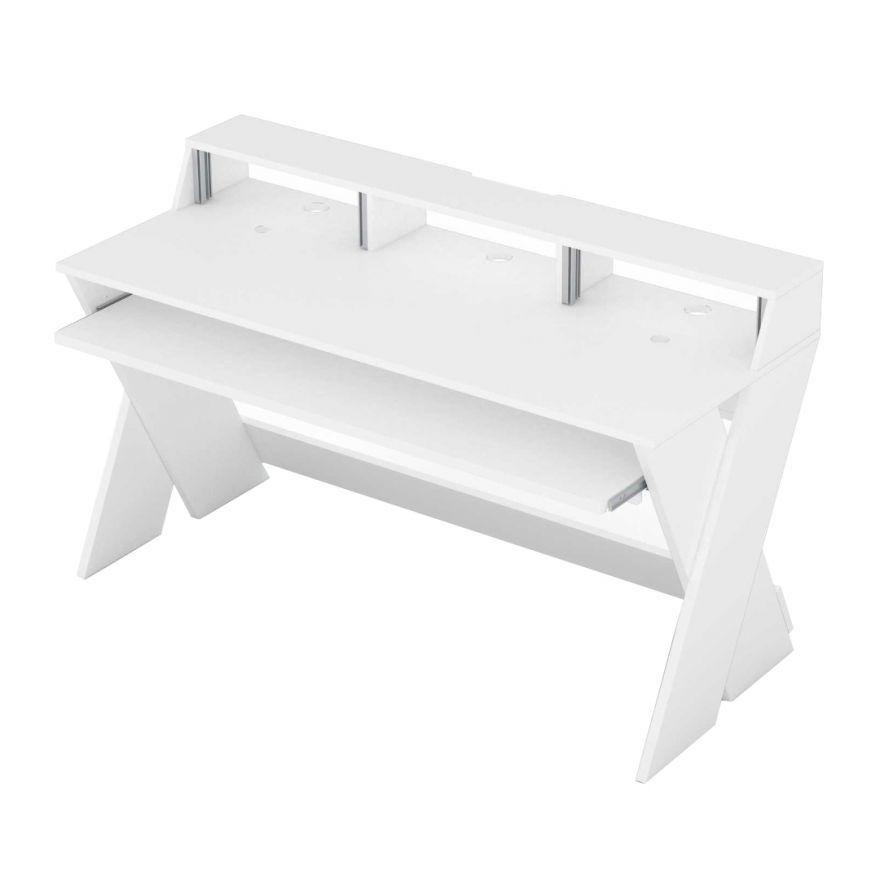 Glorious Sound Desk Pro White - Tavolo da Studio Bianco Professionale