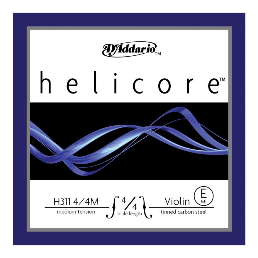 D'ADDARIO H311 - Singola per Violino 4/4 Helicore Medium (E/Mi)
