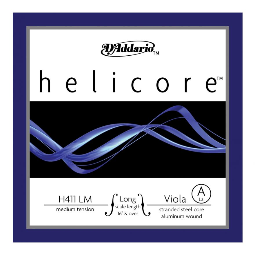 D'ADDARIO H411LM - Singola per Viola Helicore Medium (A/La)