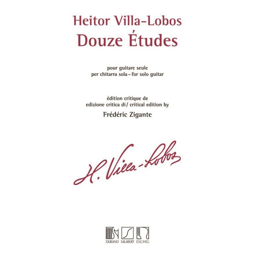 1 Heitor Villa-Lobos Douze Etudes pour Guitare Seule per Chitarra